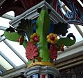 Great Malvern station in Worcestershire ... decorated column. (3341635643).jpg