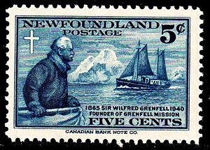 Wilfred Grenfell - Sir Wilfred Grenfellpostage issue of 1940