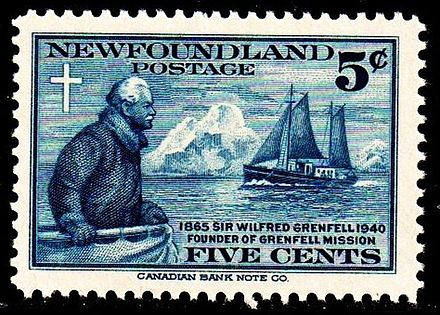 Sir Wilfred Grenfellpostage issue of 1940