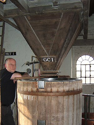 Tower brewery - Grist mill upstairs at the Sarah Hughes Brewery, Sedgley