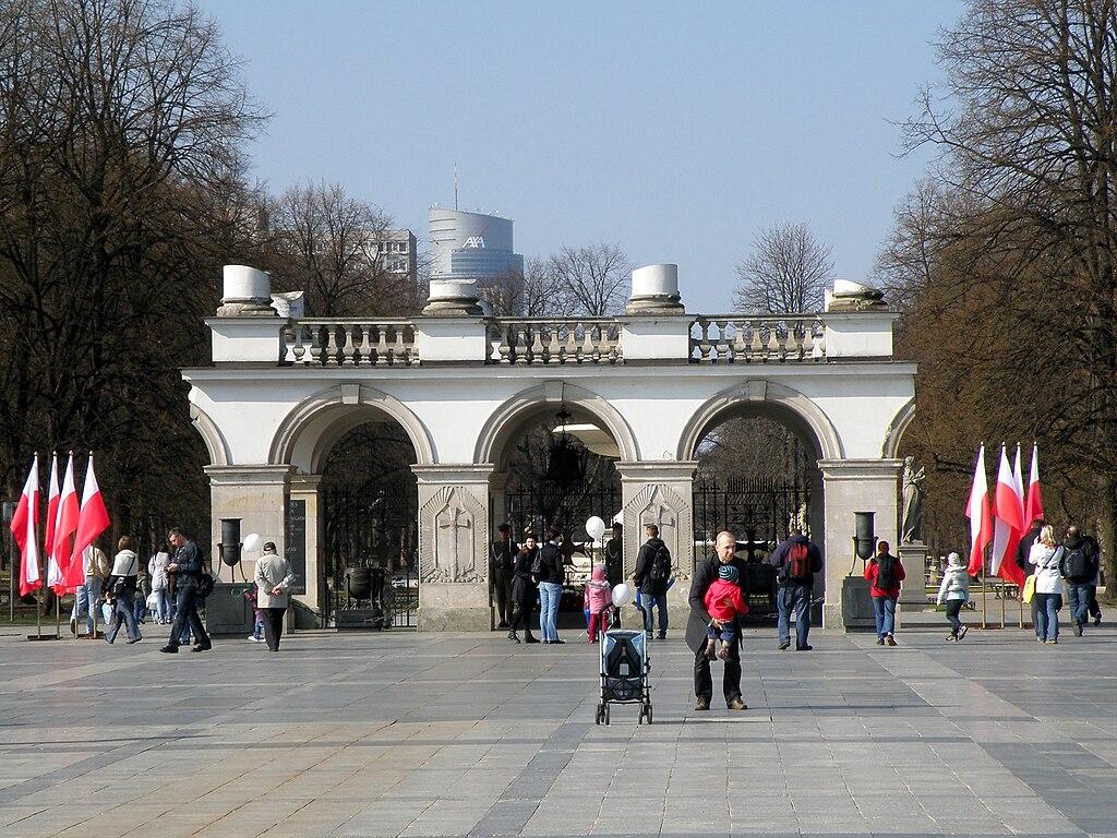 ワルシャワ蜂起・記念碑と無名戦士の墓