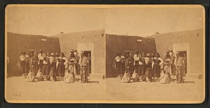 Facundo Melgares - Group of Indians at the Pueblo of San Juan, New Mexico, late 19th century (H. T. Hiester)