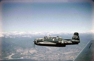 Carrier onboard delivery - Image: Grumman TBM 3R VR 23 over Korea 1953