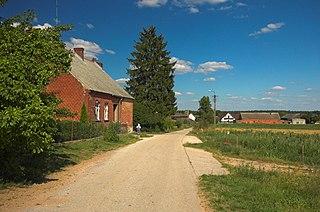 Grzeczna Panna Village in Kuyavian-Pomeranian Voivodeship, Poland