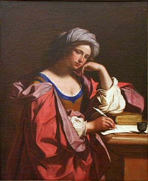 1647 in art - Persian Sibyl (1647) by Guercino