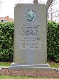 Gustaf Dalens grav.JPG