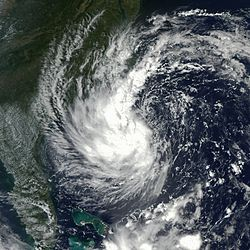 Subtropical Storm Gustav in 2002