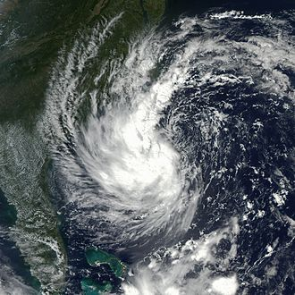 Subtropical cyclone - Subtropical Storm Gustav in 2002, the first system to be given a name as a subtropical cyclone