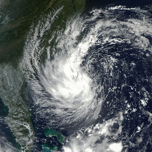 Hurricane Gustav on September 9, 2002, the first system to be given a name as a subtropical cyclone Gustav 09 sep 2002 1805Z.jpg