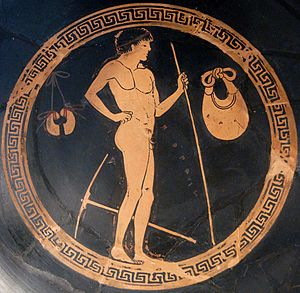 Ancient Olympic pentathlon - Image: Gymnasium scene Petit Palais ADUT00337