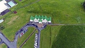 Guðjón Samúelsson - Héraðsskólinn Schoolhouse from the sky