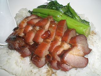 Char siu - A plate of char siu rice