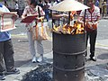 HK Sheung Wan Wing Lok Street Morrison Street event prayers visitors n fire Oct-2012.JPG