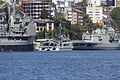 HMAS Success (OR 304), HMAS Shepparton (A 03) and HMAS Stuart (FFH 153) docked at Garden Island.jpg
