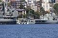 HMAS Success (OR 304), HMAS Shepparton (A 03) and HMAS Stuart (FFH 153) docked at Garden Island.jpg