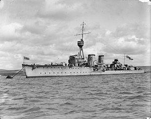 HMS Canterbury (1915) - Image: HMS Canterbury (1915)