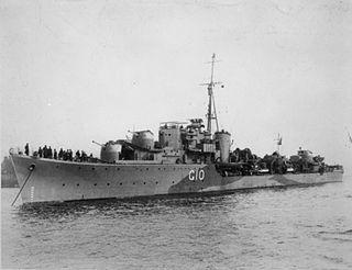 HMS <i>Pathfinder</i> (G10) P-class destroyer