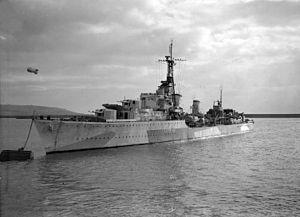 HMS Tartar (F43) - Image: HMS Tartar at a buoy