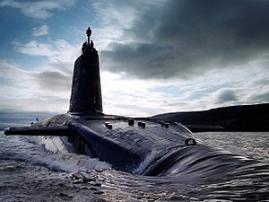 Vanguard-class submarine - HMS Victorious in the Clyde estuary, 2003
