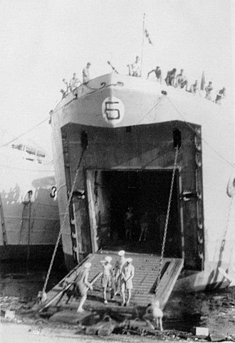USS LST-5 - Image: HM LST 5 Madras India 2 January 1946