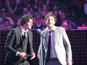 Hamish & Andy - Andy Lee (left) and Hamish Blake (right) at the ARIA Music Awards of 2009