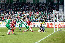 Partido entre el Hammarby IF y IFK Värnamo correspondiente a la Superettan  2013. 65617549c72fa
