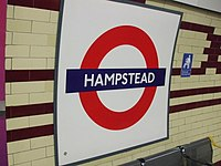 Hampstead station roundel.JPG