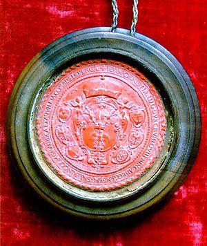 Hans Ulrich von Eggenberg - Seal of Hans Ulrich von Eggenberg