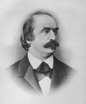 Eduard Hanslick - Portrait of Eduard Hanslick, 40 years old