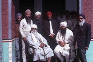 Harbhajan Singh Khalsa - Harbhajan Singh Khalsa with Sant Fateh Singh 1971