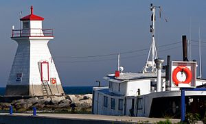 Heritage Lighthouse Protection Act - Harbour Range lighthouse, Saugeen Shores, Ontario, one of the first four designated under the Act (2012)