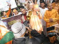 Hare Krishnas rallying at Russian Consulate in Kolkata.JPG