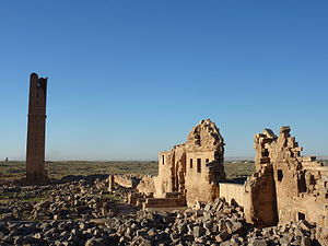 Harran - Ruins of the University at Harran. It was one of the main Ayyubid buildings of the city, built in the classical revival style.