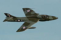 Un avion de chasse Hawker Hunter.