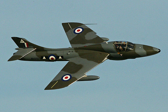Hawker Hunter T7 'WV372 - R' (G-BXFI) (12863569924).jpg