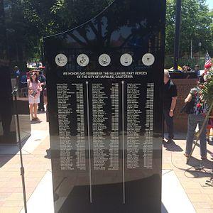 Downtown Hayward - Hayward 9/11 Memorial