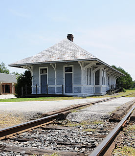 Heath Springs Depot historic train station located at Heath Springs, Lancaster County, South Carolina