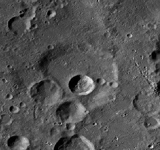 Heinsius (crater) - LRO image