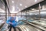 Helsinki Airport station escalator.jpg