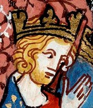 Henry I of France - Depiction from Chroniques de France ou de St Denis