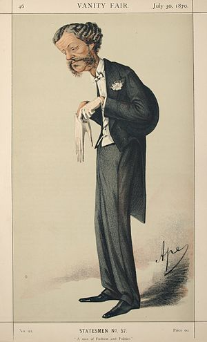 Lord Henry Lennox - Caricature by Ape published in Vanity Fair in 1870.
