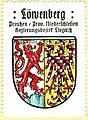 Herb Lwówka Śląskiego z 1501 roku na znaczku pocztowym z XX wieku.jpg