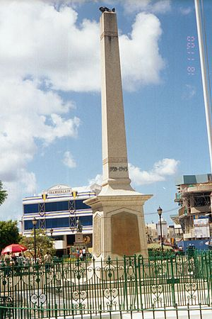 National Heroes Square - Image: Heroes Square 2, Bridgetown (2000)