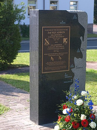 11th Armored Cavalry Regiment - Memorial stone to 3rd Squadron in Bad Hersfeld.
