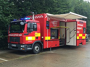 Hertfordshire Fire and Rescue Service - Image: Hertfordshire Fire & Rescue's Command Support Unit