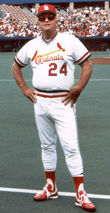Whitey Herzog managed the St. Louis Cardinals in the 1980s Herzog1983stand.jpg