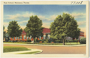 Marianna High School - Original Marianna High School, c. 1930