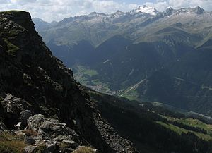 Disentis - Disentis valley seen from southeast