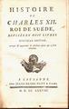 Histoire de Charles XII. Roi de Suede A Lausanne Chez Jules Henri Pott and Comp. MDCCLXXVIII.tif