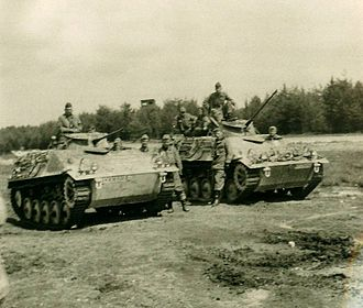 12th Panzer Division (Bundeswehr) - Armoured recce troops of the 35th Panzergrenadier Brigade in 1967